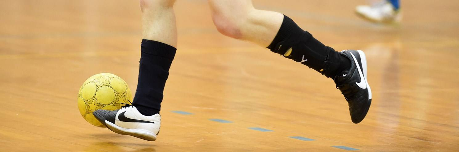 Sports Halls - Futsal 1 Player in Action - Photography by Delly Carr